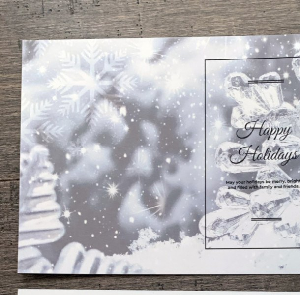 Silver charity greeting card